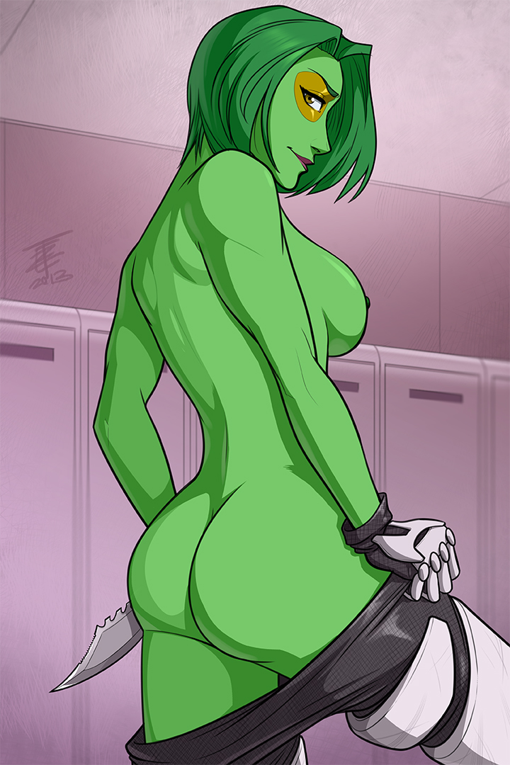 guardians of naked galaxy gamora the Penis_in_penis