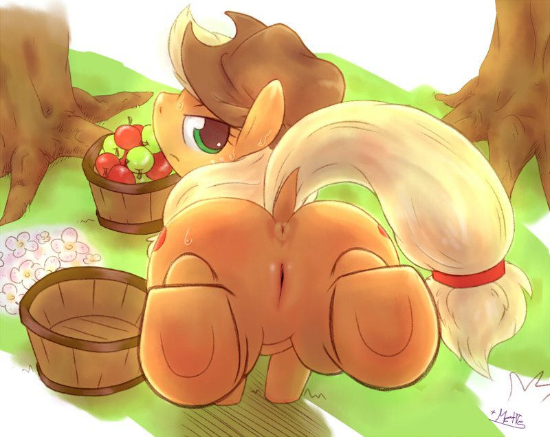 little apple my fritter pony Pink gold peach